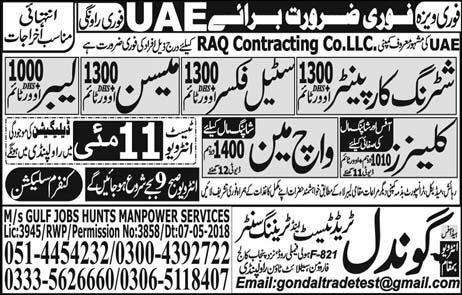 Jobs In Gondal Trade Test And Training Centre 10 May 2018