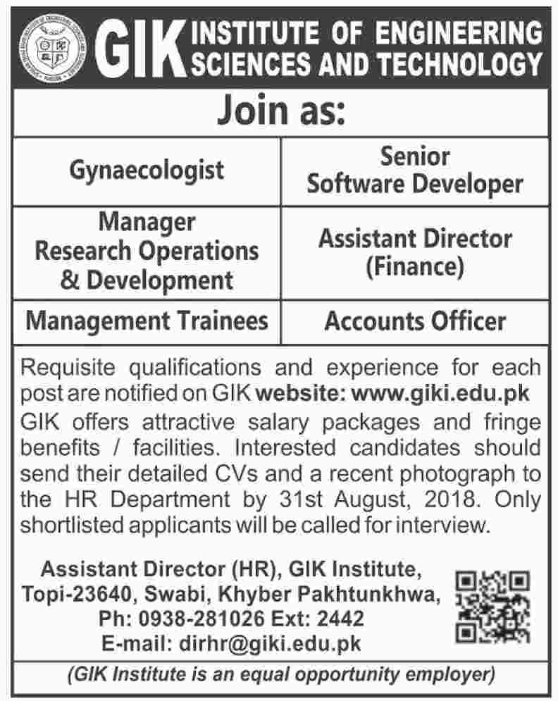 Gynecologist, Manager Research Operation & Development GIK