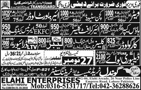 driver job in dubai for pakistani