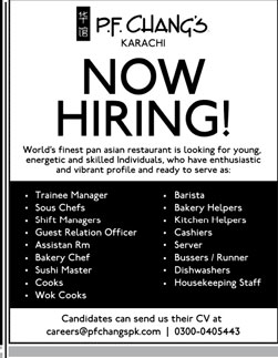 Jobs in PF Chang's