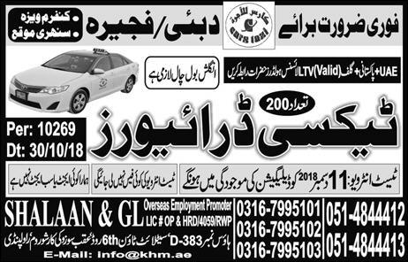 part time drivers jobs in lahore