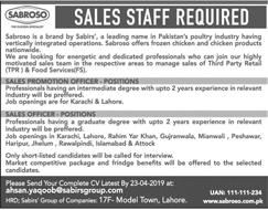 Sabirs Group Jobs