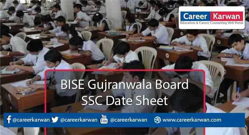 BISE Gujranwala Board SSC Date Sheet 2021