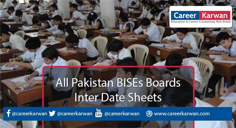 Inter Date Sheet 2020
