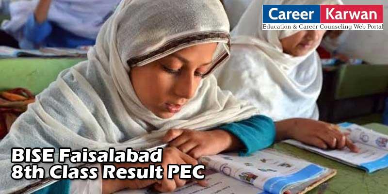8th Class Result 2020 PEC